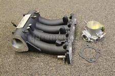 Skunk2 Pro BLACK Intake Manifold + Alpha Series 70mm Billet Throttle Body D15/16