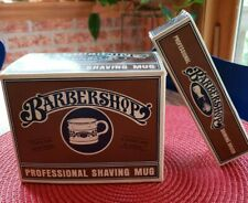 NIB NEW Vintage Barbershop Old Fashioned Luxury Shaving Mug Cup And Brush