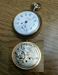 New York Standard Watch Co Excelsior Chronograph Pocket Watch 16S 7J S/N 102477