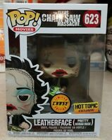 RARE LEATHERFACE CHASE Funko Pop Vinyl New in Mint Box + HT Sticker + P/P