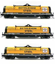 Set of 3 HO Scale Atlas Bethlehem Steel Covered Coil Cars Model Railroad Trains