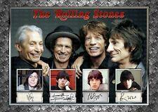 More details for the rolling stones - signed original a4 photo print memorabilia
