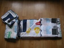 NEXT VEHICLE  COTTON RICH TODDLER JUNIOR BOYS  BED SET Goes curtains