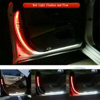 2x Car Door Open Warning Lamp Flashing LED Light Strip Anti-collision Universal