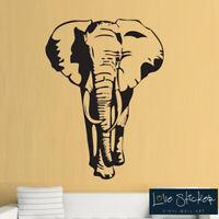 Wall Stickers Elephant Cool Animal Safari Hall Art Decals Vinyl Home Room Decor