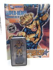 Figurine Lead Dc Comics Booster Gold n20 Specification + Box Eaglemoss Mint
