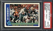 1985 Fleer Team Action #17 Cowboys w/ Walter Payton PSA 10