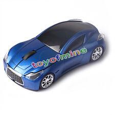 Vendita Calda  Wireless 3D Blu Infiniti Car/Auto Usb Optical Gaming Mouse Mice