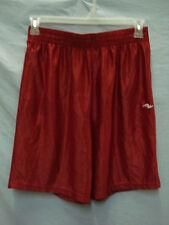 NWOT Men's Athletic Works Polyester Sport Shorts Size Medium Red #319M