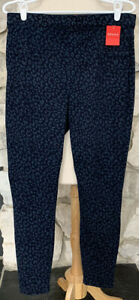 NWT Spanx Ankle Jean-ish Leggings Denim Leopard Size L