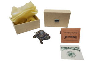 Jon Stuart Anderson Polymer Clay Fimo Creations Baby Turtle 2007 Box Papers