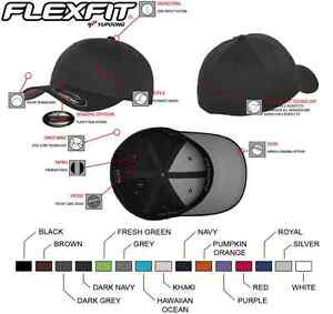 Original Flexfit Basecap Baseball Cap Mütze Kappe Wooly Combed FX6277