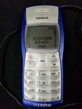 """Nokia 1100B Blue/Silver Cellular/Mobile Telephone Tracfone Working 4"""" x 1.75"""""""