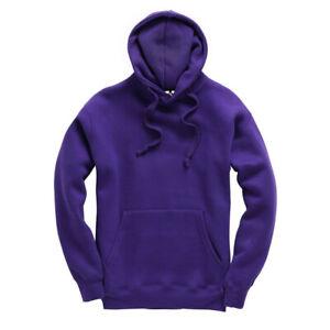 Premium Quality Plain Adults Hoodie Hooded Sweatshirts Sizes S-XXL