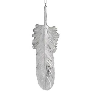 Silver Hanging Feather - Style My Pad
