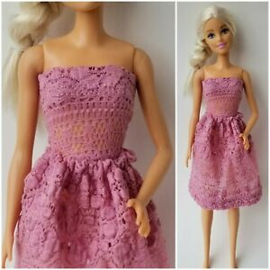 Clothes for Barbie Doll Dresses Shirt/Top & Skirt Outfit Pink Soft Lace