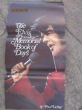 Vintage 1977 ELVIS PRESLEY Memorial Book of Days Calendar 1978 Paul Lichter