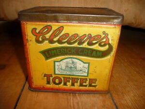 Vintage Cleeves Limerick Cream Toffee Tin