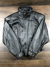 Vintage Wilsons Leather Women's Black Bomber Thinsulate Jacket Size Medium