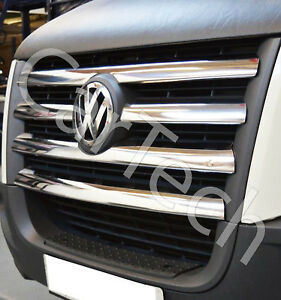 VW CRAFTER 2006-2011 CHROME FRONT GRILL COVERS TRIM SET 5PCS STAINLESS STEEL