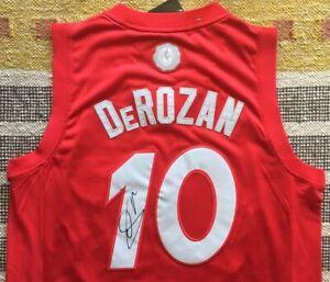 DeMar DeRozan Signed Autograph Toronto Raptors Xmas Jersey NBA Proof Spurs