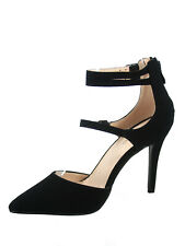 Women's Sexy Pointy Toe Ankle Strap Zipper Pump High Heel Shoes Size  5 -10 NEW