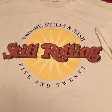 New listing Crosby Stills & Nash Still🎸Rolling Five🎼Twenty🎭 Vintage T Shirt Xl Tan 1994⚡�