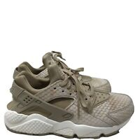 B857 Nike Womens Air Huarache Run Prm Running Shoe Linen/Linen-Sail US 8.5
