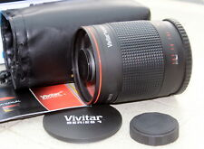 VIVITAR SERIES 1 500mm MIRROR LENS IN BOX WITH 2X MULTIPLIER PENTAX SCREW M42