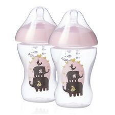 ULTRA Tommee Tippee ULTRA Feeding Bottles Blue or Pink or Clear