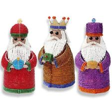 Beadworx Glass Beads Holiday 3 Wise Men Three Kings Nativity NWT Retired