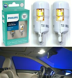 Philips Ultinon LED Light 12961 194 White Two Bulb Interior Dome Upgrade Stock
