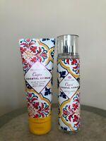 Bath & Body Works CAPRI COASTAL CITRUS Fragrance Mist + Body Cream - Lot of 2