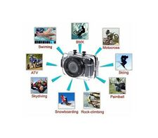 WATERPROOF ACTION CAMCORDER SPORT MACCHINA FOTOGRAFICA HD IMPERMEABILE