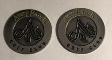 2 Avery Ranch Golf Club Golf Ball Markers.