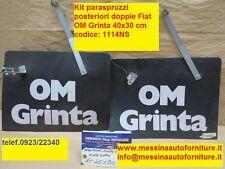 Kit paraspruzzi e schizzi ruote posteriori doppie Fiat Iveco Grinta Ø 400x300 mm