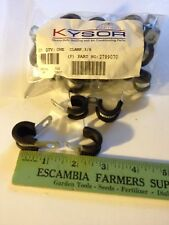 """QTY 25, KYSOR 3/8"""" CUSHIONED LOOP CLAMPS, 1/4"""" MOUNTING HOLE, 2799070"""