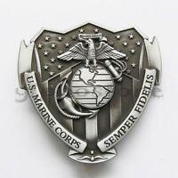 USMC Marine Corps Semper Fidelis Metal Belt Buckle