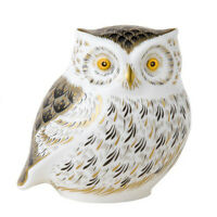Royal Crown Derby Little Grey Owl Paperweight