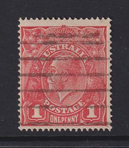 AUSTRALIA  1914: 1d red KGV variety FERNS BW 71(4)ia cv $30