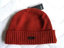 FRED PERRY Russet Wool Cuffed Beanie Toque Hat Rare OSFA Rust New Tags