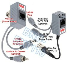 BNC Video With Audio/Power Extender Over Cat5/6 Kit