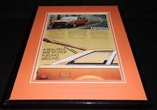 1980 Toyota Corolla SR 5 Liftback Framed 11x14 ORIGINAL Vintage Advertisement