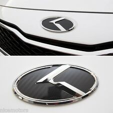 K Logo Carbon Black Front 3D Emblem 1EA For KIA Forte 2009 2010 2011 2012 2013