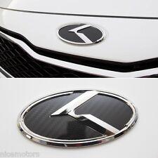 K Logo Carbon Black Front 3D Emblem 1EA For KIA K5 Optima 2011 2015
