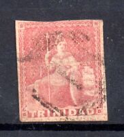 Trinidad 1851-57 1d rose red #2A imperf fine used WS20178