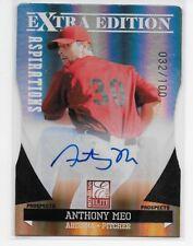 Anthony Meo 2011 Elite Extra Edition RC Die Cut Auto /100 SP ArizonaDiamondbacks