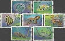 Timbres Faune marine Tanzanie 1852/8 o lot 18519