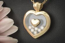 Schmuck Chopard Herz Anhänger Happy Diamonds mit 7 Brillanten in 750er Gold