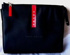 PRADA Luna Rossa Perfume Men Travel Pouch Toiletry Bag Black/Red New Unboxed